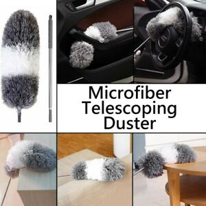 Feather Duster Extendable Handle 245cm Long Telescopic Duster Magic Static Brush