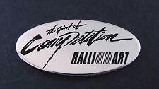 Ralliart Mitsubishi Aluminium Badge Colt Laner Gto Fto L200 Turbo