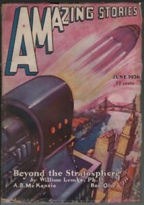 Amazing Stories 1936 June.   Pulp