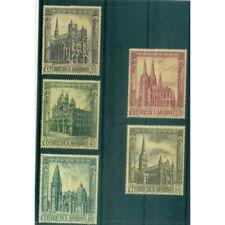 Saint-Marin 1967 - Mi. n. 897/901 - Cathédrales gothiques