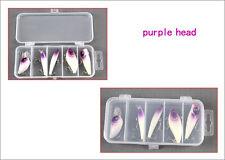Lot de 5 leurres durs POPPER / VIB / STICKBAIT / MINNOW / CRANKBAIT violet