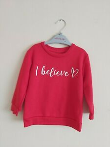 """""""I Believe"""" Christmas Jumper. Age 12-18 Months. Red Christmas Jumper"""