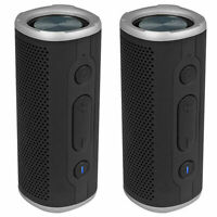 (2) Rockville ROCK LAUNCHER BK Portable Waterproof Bluetooth Speakers w/ TWS