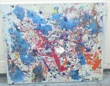 1950-STYLE-RETRO-MID-CENTURY-MODERN-ABSTRACT-OIL-PAINTING-Signed-Jasper Johns