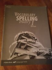 Abeka vocabulary spelling poetry I grade 7 Quizzes 3rd edition