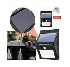 20 LED LAMPADA IMPERMEABILE SENSORE DI MOVIMENTO ENERGIA SOLARE LUCE ESTERNA