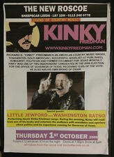 Kinky Friedman Music Poster -  Leeds, England UK  The New Roscoe