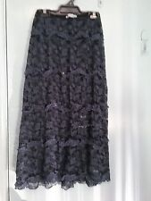 Sarah Jane black and grey lace skirt with beads in size S