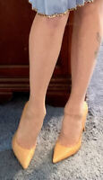ANN TAYLOR NUDE POINTED TOE LEATHER CLASSIC PUMPS HEELS, 9.5 NEW