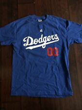 VTG Los Angeles Dodgers BRIAN WILSON MLB Majestic T-Shirt Men 00 Sz M Blue