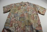 Cooke Street Honolulu Bamboo Floral CAMP SHIRT XL Extra Large