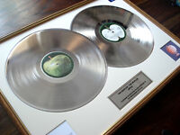 THE BEATLES WHITE ALBUM DOUBLE LP PLATINUM DISC RECORD AWARD ALBUM