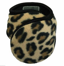 NEW Degrees By 180s Fleece Cheetah Print Women Ear Warmers Winter Ladies Loose