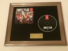 SIGNED/AUTOGRAPHED SIMPLE PLAN - TAKING ONE FOR THE TEAM FRAMED CD PRESENTATION