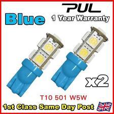 100 x 9 SMD LED CAR SIDE / INTERIOR LIGHT BULBS T10 W5W 501 194 - Blue