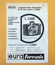 D051 - Advertising Pubblicità - 1959 - EURA FERRANIA APPARECCHIO FOTOGRAFICO