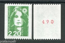 FRANCE 1991, timbre 2718a, type ROULETTE n° ROUGE MARIANNE BICENTENAIRE, neuf**