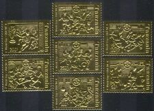Tanzania 1994 GOLD Football World Cup/Sports/Games/Soccer 7v set ref:b6036