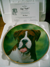 BOXER DOG COLLECTOR PLATE DANBURY MINT SIMON MENDEZ SAY AHH! BOXED + CERT