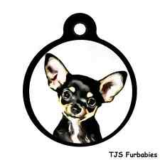 Chihuahua-Custom Personalized Pet ID Tag for Dog & Cat Collars & Harnesses