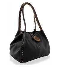 Ladies Fashion DESIGNER Quality Faux Leather Wood Button Shoulder Bag Womens