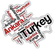 "Turkey Ankara Word Cloud Car Bumper Window Mirror Sticker Decal 5""X4"""
