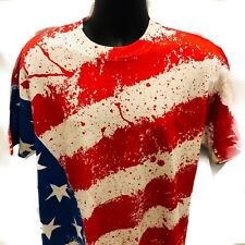 New listing Vintage Single Stitch Usa Flag All Over T Shirt American United States Xl