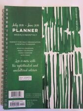 New July 2018-June 2019 Planner Weekly / Monthly Green $14.99