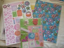 New Stickers Backing Paper Sequins Heart Beads Ribbon and Bows for Cards
