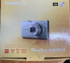 Canon PowerShot A4000 IS 16.0MP Digital Blue Camera open box NEW