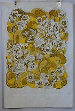 Set of 2 Pillow Cases Yellow 60s Retro Vtg Floral Hippie Deco Martex Luxor EUC