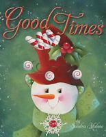 Good Times Sandra Malone Painting Book NEW Christmas Snowman