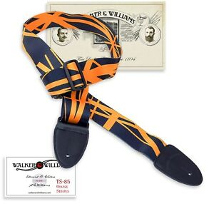 Walker & Williams TS-85 Orange & Black Guitar Strap