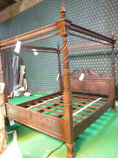 Super King 6' antique acajou Queen Anne reproduction Four Poster Canopy bed