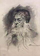 Ernest Meissonier portrait gravé par CHARLES WALTNER 1893