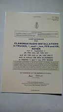 USER HANDBOOK CLANSMAN INSTALLATION PRC320 VRC321 VRC353 BRC353Z DM BOX
