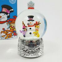 """Art Van 2017 Collectors Edition Musical Snow Globe Frosty The Snowman Silver 8"""""""