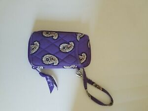 Vera Bradley Simply Violet zip around Wristlet Wallet Purple Paisley
