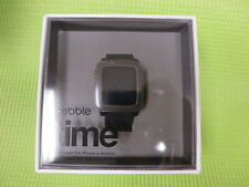 Pebble Time Smart Watch 501-00020 Jet Black Classic Buckle Apple & Android -New