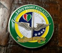 Rare Lady Night Stalkers Fideles 3/160th SOAR Savannah GA LNSDQ Challenge Coin