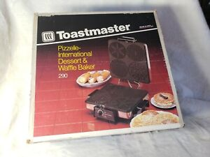 Vintage Toastmaster Waffle Pizzelle Maker 290 NIB Iron Cookie Dessert New USA