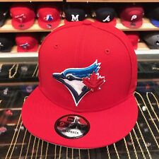New Era Toronto Blue Jays Snapback Hat All Red/BLUE Current/30th Season Patch