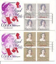 Canada SC # 620-621 Royal Visit 1973 FDC. Inscription BLK4. Kingswood Cachet
