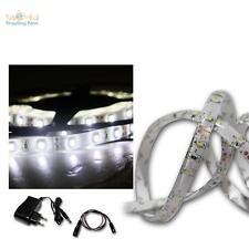 (14,58 €/m) luz LED banda set 2,4m frío-blanca SMD-Stripe + transformador, Flex barra de luz