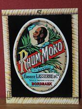Etiquette Neuve (Années 60) RHUM MOKO (Lasserre Bordeaux) original new rum label