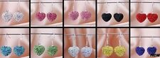 10mm 5pair/lot mixed disco heart crystal shamballa earrings drop Dangle
