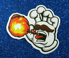 Lot of 2 Screaming Hand, Mario Bros, Vinyl Stickers for Skateboard/Laptop