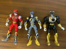 Power Rangers Wild Force Silver Luna Wolf, Red Ranger & Time Force Black