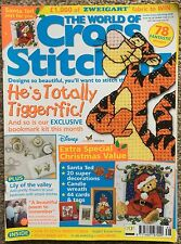 The World of Cross Stitching Magazine Issue 66 Dec 2002 Disney Tigger Christmas