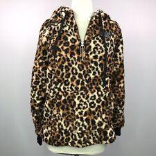 Victoria's Secret PINK XS Cheetah/Leopard Hoodie Pullover Sherpa  Zip